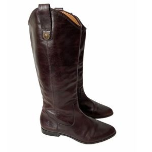 Frye Cindy pull on leather riding boots 8